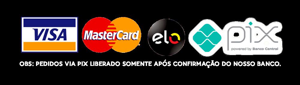 cartão de crédito ou débito para compra na peixaria